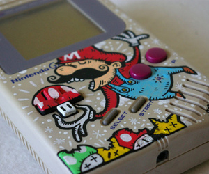 mario, nintendo, and gameboy image