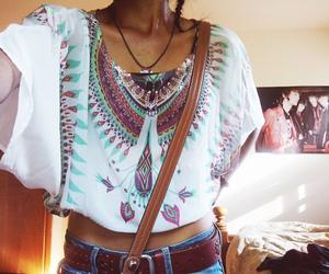 fashion, girl, and boho image