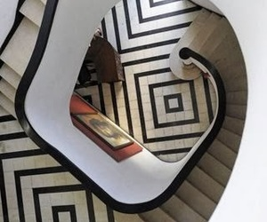 black, home, and staircase image