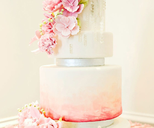 flowers, wedding, and cake image