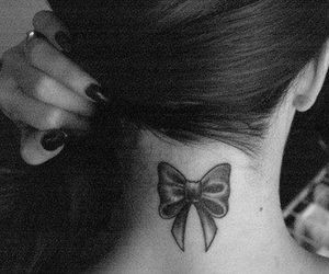 tattoo, girl, and bow image