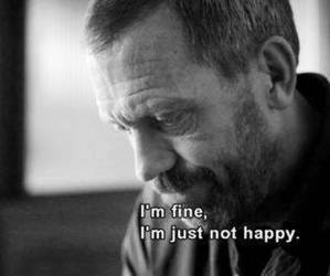 fine, sad, and house image
