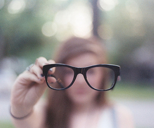 girl, glasses, and photography image