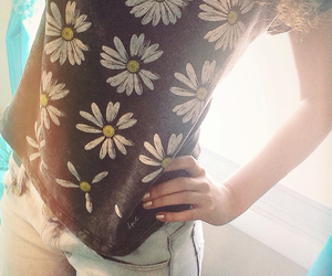 acid, clothes, and daisy image