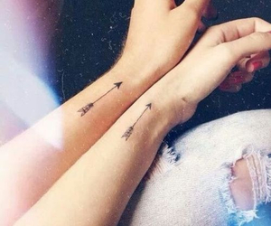 tattoo, arrow, and friends image