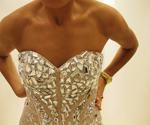 fashion, dress, and diamonds image