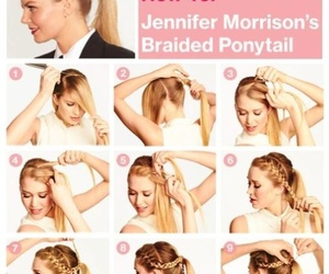 braided, ponytail, and diy image