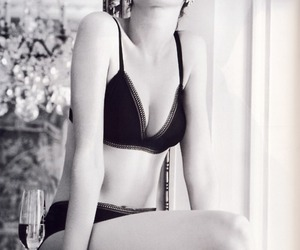 Anne Hathaway, black and white, and sexy image
