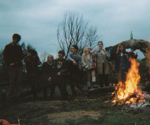 friends, fire, and indie image
