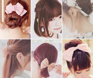 accessories, hairstyle, and bows image
