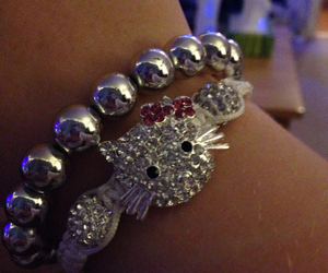 bracelets, hello kitty, and sparkly image