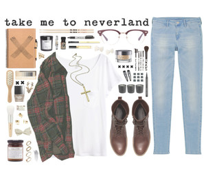 clothes, clothing, and never land image