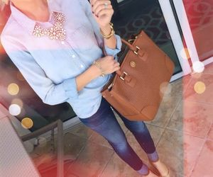 fashion, bag, and jeans image