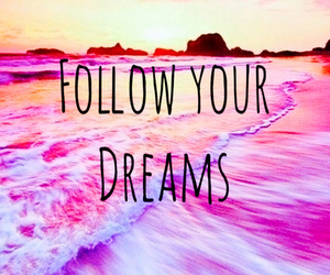 Dream, follow, and pink image