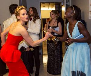 Jennifer Lawrence, oscar, and lupita nyong'o image