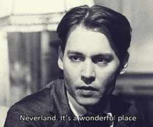 neverland, johnny depp, and quote image