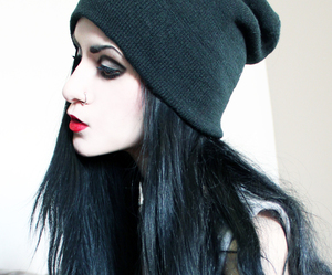 black, pale, and pastel goth image