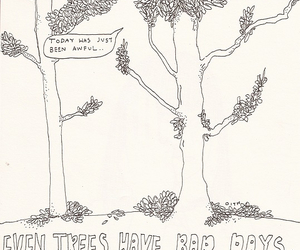 tree, art, and bad day image