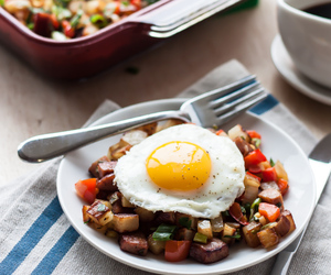 breakfast, sausage, and eggs image