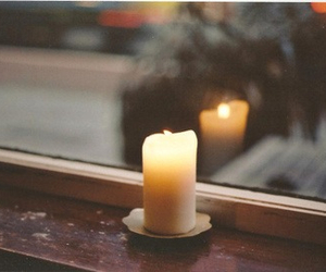 candle, window, and light image