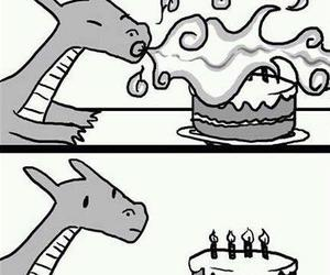 dragon, funny, and birthday image