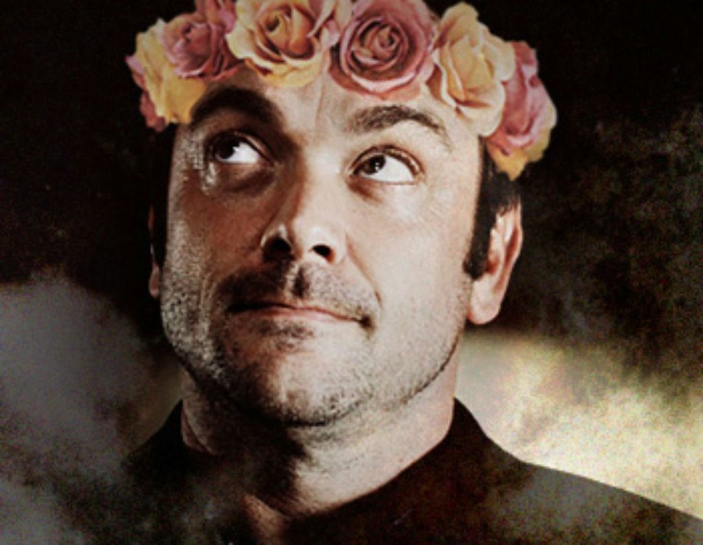 Crowley With A Flower Crown 3 On We Heart It
