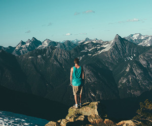 mountains, boy, and travel image