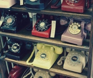 antique, rotary phone, and old image