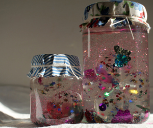glitter, butterfly, and jar image