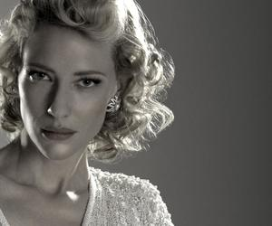 actress, cate blanchett, and black and white image