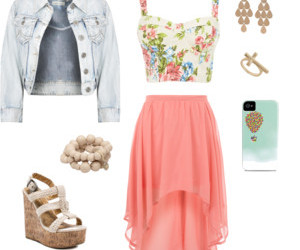 outfit, skirt, and shoes image