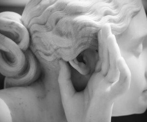 listen, marble, and sculpture image