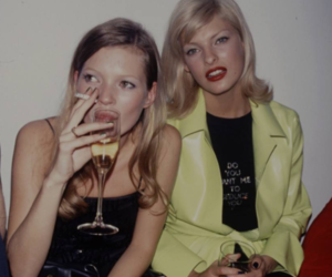 kate moss, linda evangelista, and model image