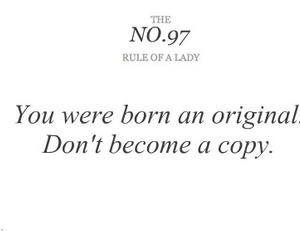 quote, lady, and rules image