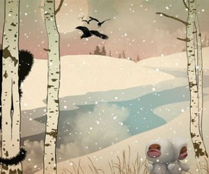 crow, monsters, and snow image
