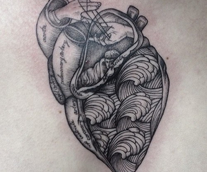 beautiful, ink, and heart image