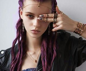 accessories, hair, and purple image