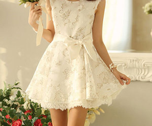 white and dress image