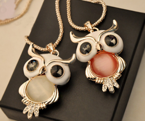 necklace, owl, and cute image
