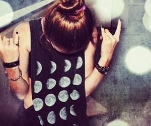 girl, fashion, and moon image
