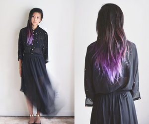 hair, ombre, and purple image