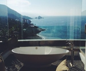 luxury, ocean, and bath image