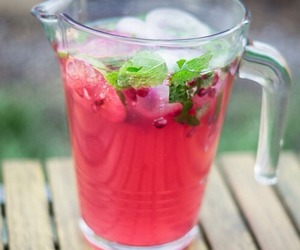 drink, pink, and fruit image
