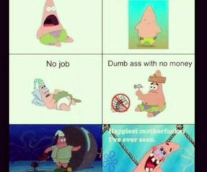 patrick, happy, and spongebob image