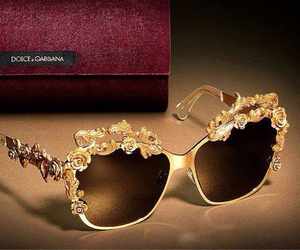 glasses, gold, and style image
