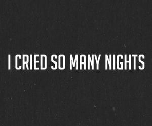 cry, night, and sad image