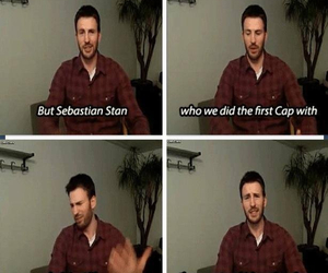 captain america, chris evans, and interview image