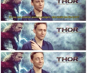 thor, funny, and Tom image