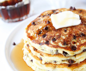 pancakes, chocolate chip, and food image