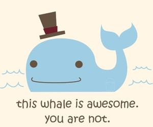 awesome, whale, and hat image